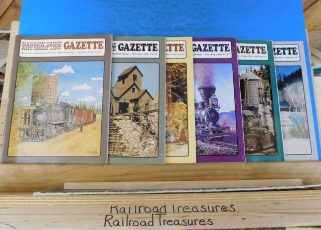 Narrow Gauge & Short Line Gazette Complete Year 1998 6