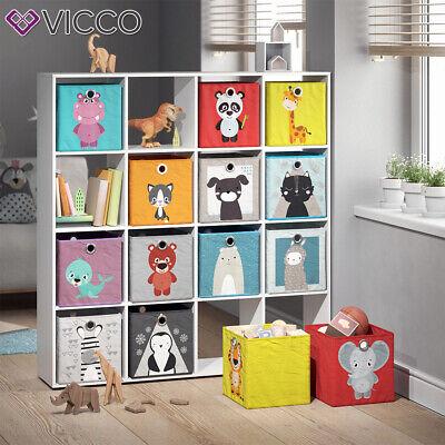 Vicco 2er Set Faltbox 30x30 Cm Kinder Faltkiste Aufbewahrungsbox Regalkorb Ebay