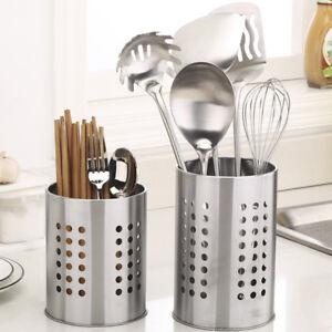 Kitchen-Stainless-Steel-Utensil-Cooking-Spoon-Chopstick-Holder-Storage-Tool