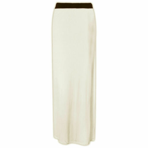 Ladies Womens Gypsy Maxi Skirt Long Jersey Bodycon Size 8-10-12-14-16-18-20