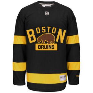 NWT Boston Bruins NHL Reebok 2016 Winter Classic Youth Premier ... fd4a59b79