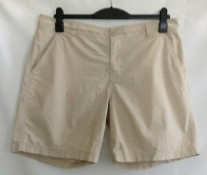 Columbia-Mens-Beige-Casual-Cotton-Flat-Front-Pocket-Chino-Shorts-Size-36W-8L