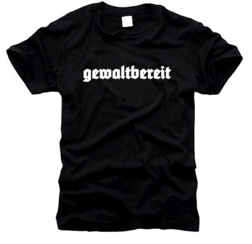 Herren-T-Shirt Gr GEWALTBEREIT S bis XXL