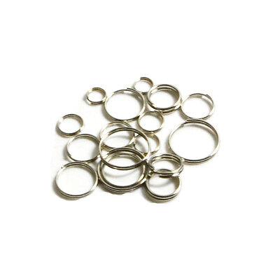 Metal Key Ring Keychain  Loop Snap Hook Buckle Steel Hoop Split Rings Connector
