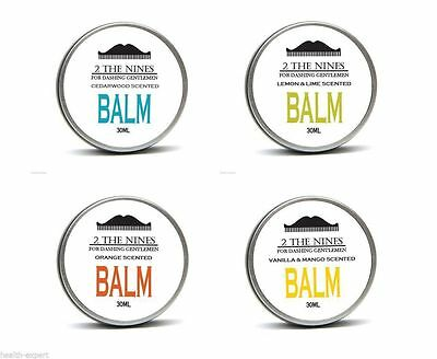2 The Nines™ Premium Beard Balm 4 x 30ml Gift Multipack  Set - 4 Scents