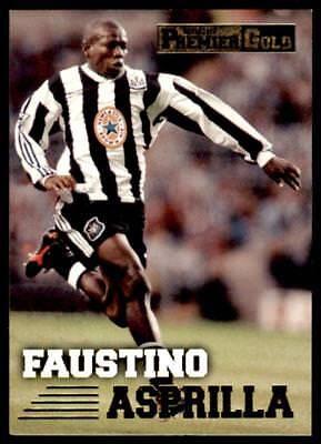 Newcastle Faustino Asprilla #112 Merlin Premier Dorado 1997-1998