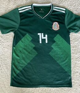 info for 54c71 34f31 Details about Mexico Javier Chicharito Hernandez Size 28 Jersey Green