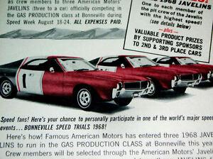 1968-AMC-JAVELIN-ORIGINAL-AD-SST-390-v8-290-343-hood-door-steering-wheel-decal