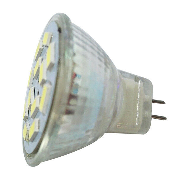 6W GU4(MR11) LED Spotlight MR11 12 SMD 5730 570 lm DC 12V, Warm White S4Y4