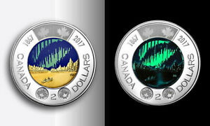 2017 Canada; 2 Dollars $2 Toonie; Dance of the Spirits Coloured Glow in Dark UNC