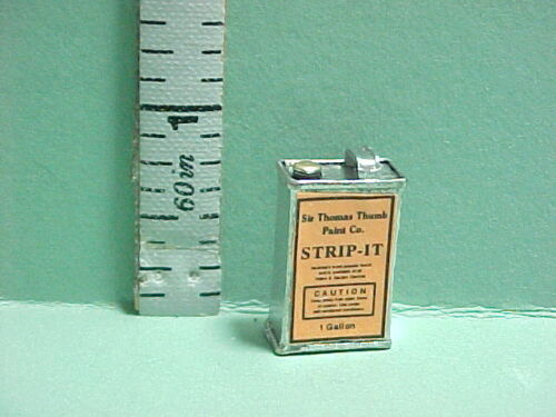 Miniature  Strip it Can  #825 Non-Opening Painted Metal