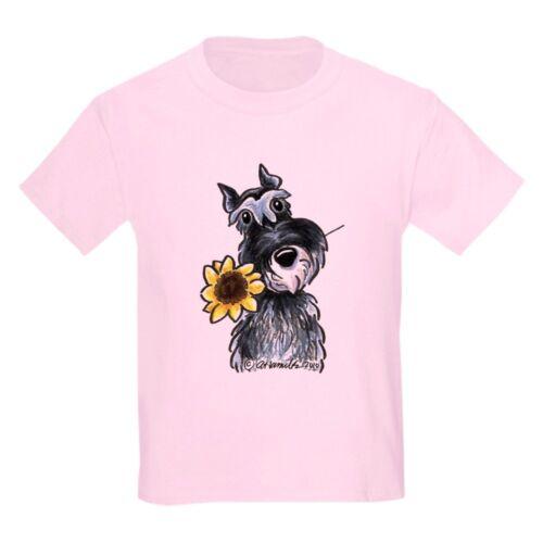 CafePress Sunflower Schnauzer Kids Light T Shirt Kids Light T-Shirt 457150835
