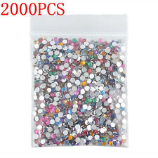2000PCS DIY Fun Women's Decor 3D Acrylic Nail Art Tips Gems Crystal Rhinestones