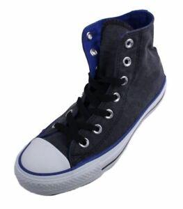 Converse-Chuck-Taylor-OX-HI-Mens-Black-Blue-Canvas-Casual-Sneakers