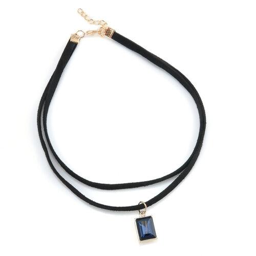 Black Choker Fashion Collar Vintage Handmade Velvet Classic Plain Goth Necklace