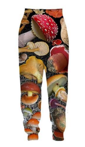 MenWomen 3D Print mushroom collage  Sweatshirt Hoodies Jogging pants Sport Suit