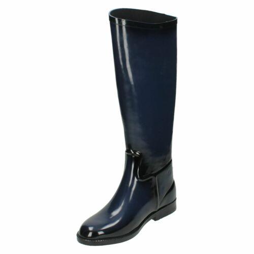 Femmes Spot On Botte d/'équitation en Caoutchouc Style Wellington Boot