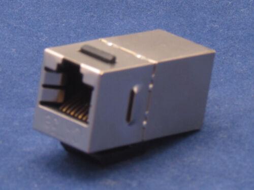 25 X pcs Lot CAT5e Shielded Inline RJ45 Keystone Wall Coupler Jack Adapter 8P8C