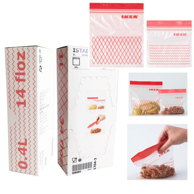 Buy Ikea Food Storage Plastic Seal Zipper Bag 2 Size 400ml X 30 1
