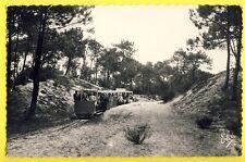 cpsm CAP FERRET (Gironde) Le Petit TRAM FORESTIER Animés Train Voiture Baladeuse