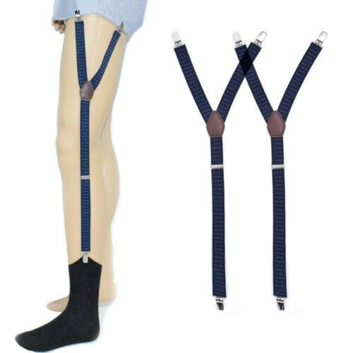 Mens Shirt Stays Holder Suspender Adjustable Elastic Garter Strap Sock Non-Slip
