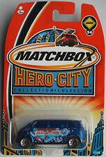 "Matchbox – VW Microbus blaumetallic ""Hero City"" Neu/OVP US-Card"