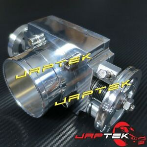 NEW-65MM-2-5-034-UNIVERSAL-CNC-ALLOY-HIGH-FLOW-THROTTLE-BODY-amp-MANIFOLD-FLANGE