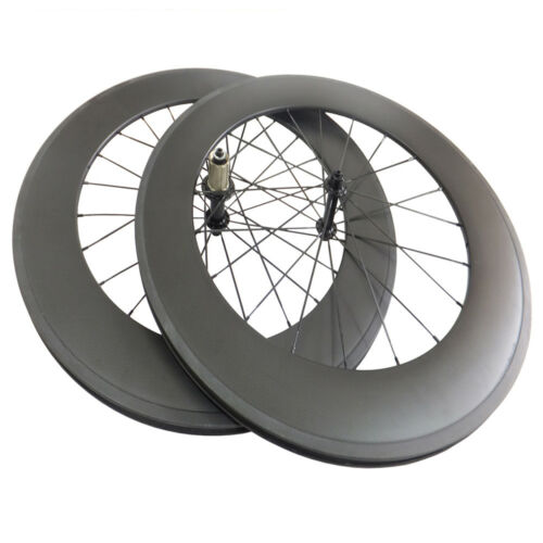 With Decals 88mm Clincher Tubular Carbon Wheels Road Bike Bicycle Wheelset 700C