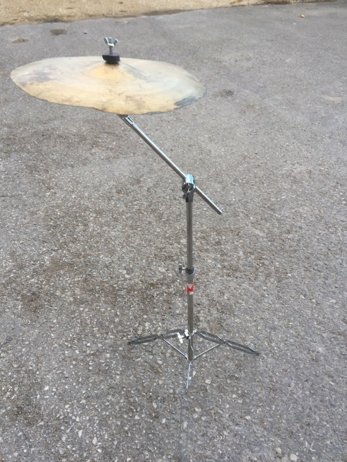 """Free P&P. 16"""" Beginner Generic Crash Cymbal and Boom Cymbal Stand. CCS4810269"""