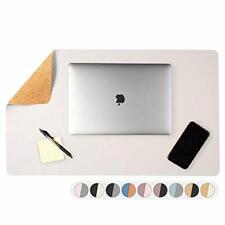Office Desk Pad Dual Sided Cork Amp Cream Desk Mat 36 X 17 Inch Leather Styl