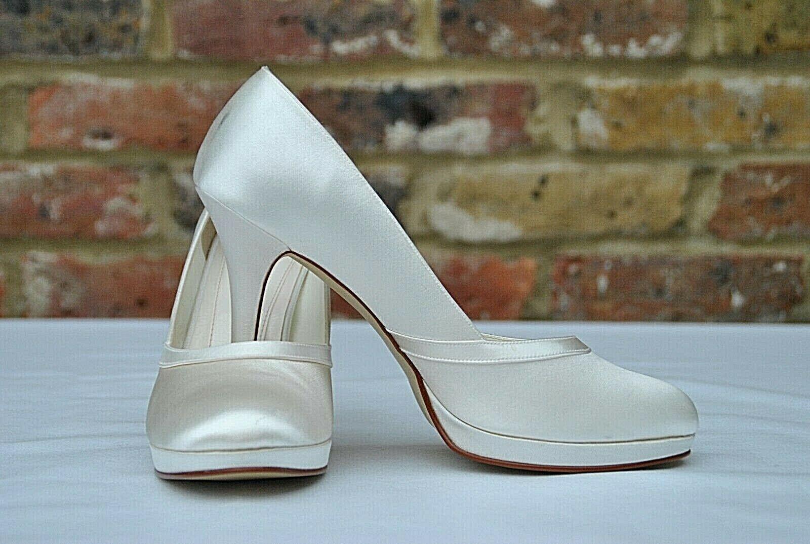 New ElSE by Rainbow Bridal shoes MERLOT uk 8 euro 41 Ivory RRP 75+
