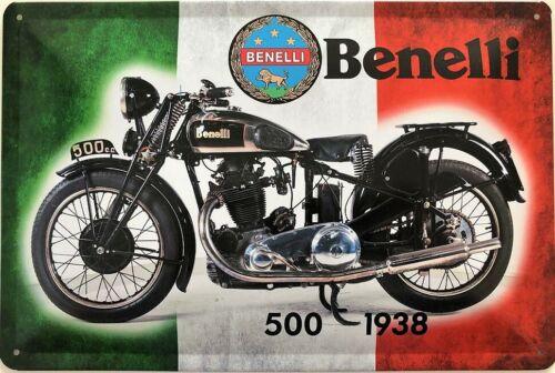 Blechschild 30 X 20 cm Benelli 500-1938
