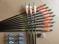 Pse Crossbow Bolts By Victory 24 Pack H/moon 20 Hot Orange Free Points