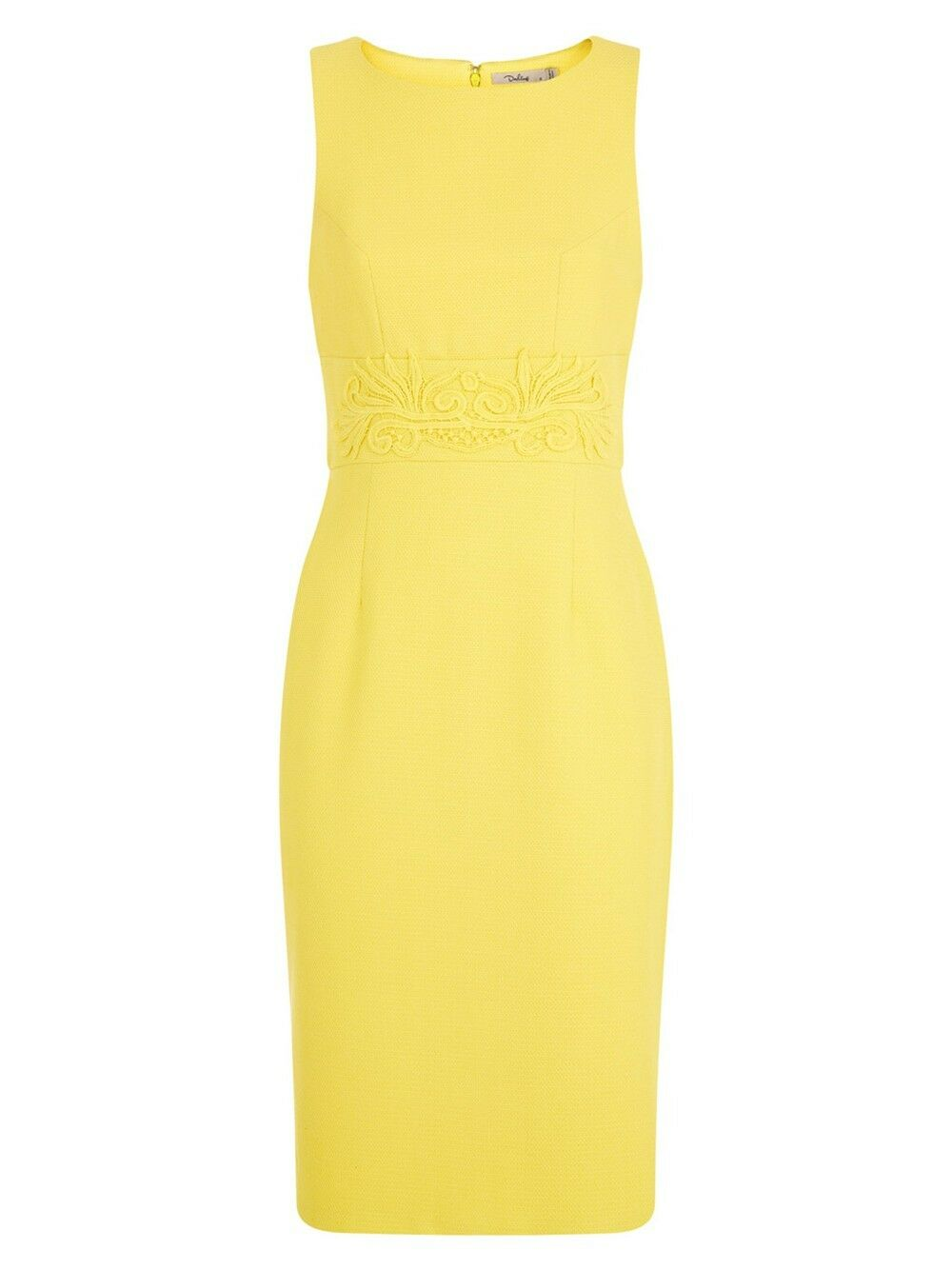 Darling Abigail Dress Dress Dress RRP79 Sunshine Yellow Lace Waist Panel Occasion 51daa4