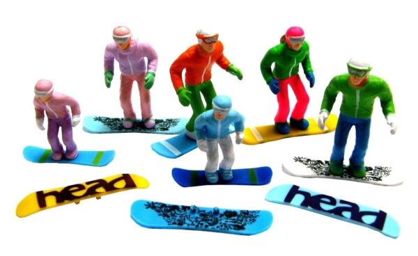 Appris Jaegerndorfer Jaegerndorferjc 54300 6 Pieces Debout Chiffres Avec Tête Snowbo...-c54300 6 Pieces Standing Figures With Head Snowbo... Doux Et Doux