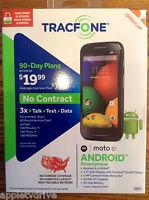 Motorola Moto E Android 4.4 'kit Kat' Triple Minutes Tracfone Priority Shipping