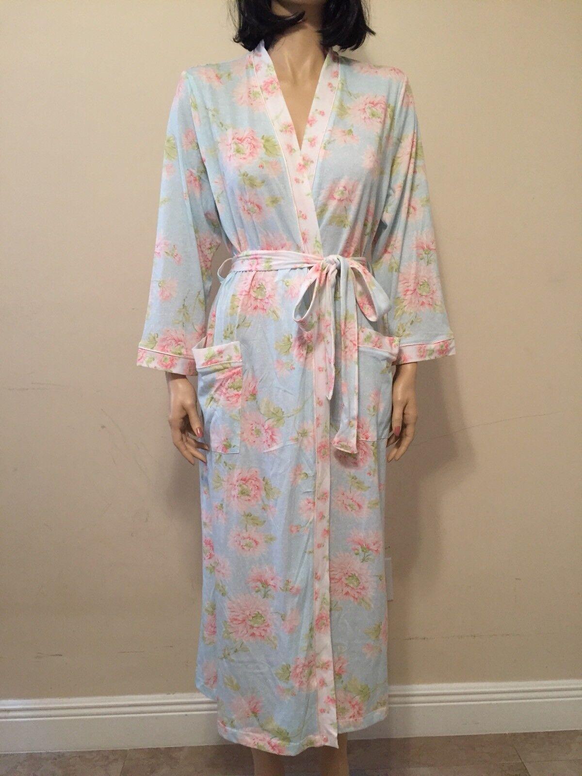 Carole Hochman  Cotton  Blend Floral Robe Size L NWT