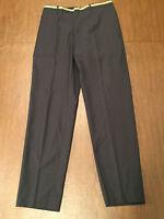 PRADA Mens Size 48/US 32 Wool/Silk Blend NAVY-BLUE PINSTRIPE DRESS PANTS/TROUSER