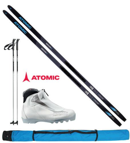 Stöcke Skisack Schuhe women Bindung Atomic Damen Langlaufset L=183cm