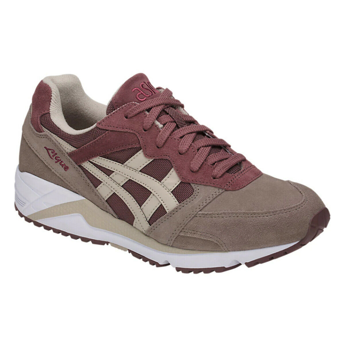 Asics Gel-Lique Men's pink Taupe Feather Grey Sneaker shoes H838L-2612