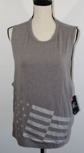 Gray Armour Women's Workout Flag Nwt Under Sz Gear Heat Top Ua Xl American TYnEx6t6