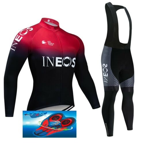 """TEAM INEOS 2019 cycling SET winter thermal  9D GEL PAD /""""NEW/"""""""