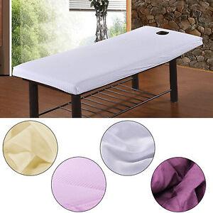 Massage-Beaute-Impermeable-Table-Housse-Couverture-Feuilles-Visage-Souffle-Trou