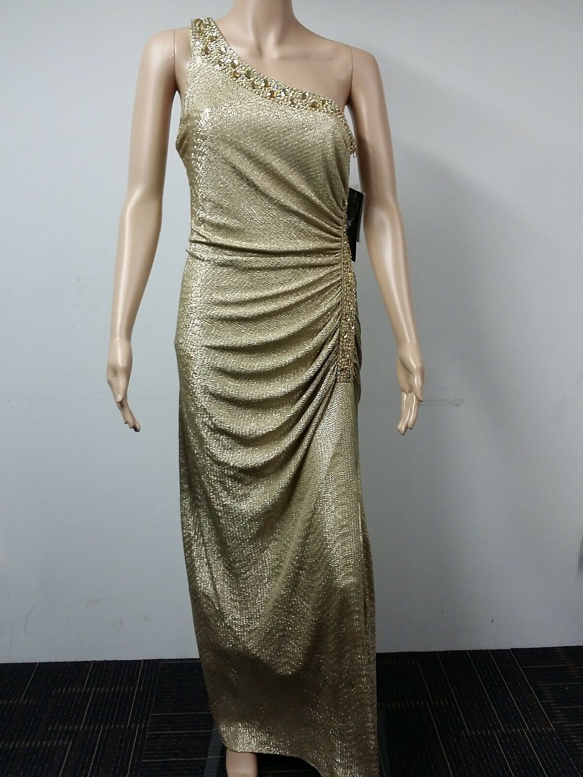 nouveau to AUS - Betsy & Adam - Beaded Formal Evening Robe Taille 6 - Metal or  219