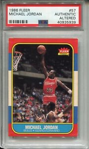 1986-Fleer-Basketball-57-Michael-Jordan-Rookie-Card-RC-Graded-PSA-Authentic-039-86