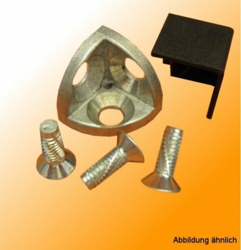 Eckwinkel 30 B-Typ Nut 8 für T-Nut Aluprofile kompatibel mit Bosch Eckverbinder