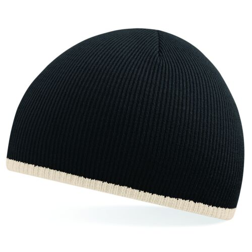Brand New Mens Womens Knitted Wolly Soft Winter Two-Tone Beanie Hat Cap