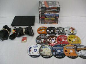 Sony PS2 PlayStation 2 Slim plata consola SCPH - 70012 Paquete 13 juegos + Más!