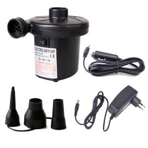 Elektrische-Luftpumpe-12-V-230-V-Pumpe-Geblaese-Outdoor-mit-3-Adaptern-Camping-0u