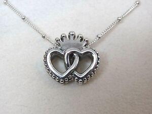 79bb3c2e1 New Pandora w/Hinge Box Regal Hearts Necklace 397719-45 CM Love ...